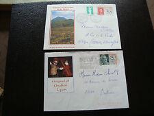 FRANCE - 2 enveloppes 1991 1995 (lyon guignol/puys de dome) (cy50) french