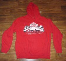 MLB St. Louis Cardinals 2011 World Series Mens Hoodie Sweatshirt, Size M, EUC