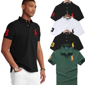 2021 RalphLauren0 Herren Poloshirt Polo Shirt Kurzarm T-Shirt Polohemd Big Pony