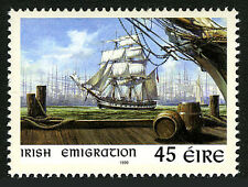 Ireland 1168, MNH. Irish Emigration to USA. Ship, 1999