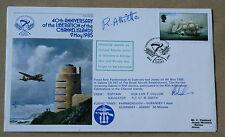 Islas del Canal 40TH aniversario de Liberartion 1985 Cubierta Firmado Richard allisette