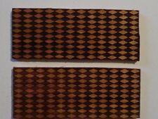 NEW Stabilized Cherry Laser Cut Diamond  Design Knife Scales 2x5x1/4