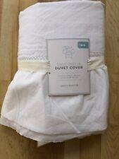 New Pottery Barn Kids Sadie Ruffle White Bed Skirt Twin $129
