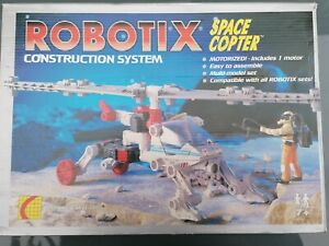 VERY RARE Robotix Space Copter Construction Set Complete with unused stickers