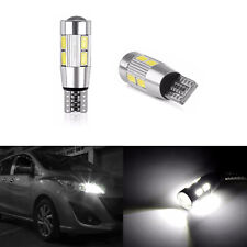 T10 Car Side Light Bulb Canbus Error Free Xenon White 10 SMD LEDs 501 W5W WEDGE