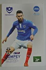 Football Programme. League Two, Portsmouth v Cambridge United. 27.02.2016. VGC