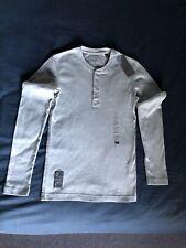 ESPRIT  Esprit men's grey long sleeve button-front T-shirt