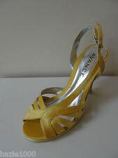 Fab Avance golden yellow satin strappy sandals, UK3 /EU 36,  RRP £49.99,  BNIB