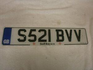 GREAT BRITAIN ENGLAND POLICE FILM CAR FRONT EUROSTARS # S521 BVV LICENSE PLATE