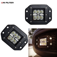 2pcs 18W Flood LED bumper push mount fog Light Pods Ford Jeep 4X4 Off-Road ATV