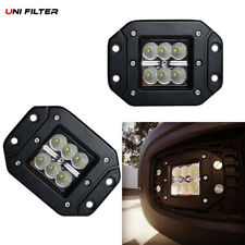 2pcs 18W Floot LED bumper push mount fog Light Pods Ford Jeep 4X4 Off-Road ATV