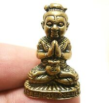 THAI MINI AMULET GUMAN THONG KUMAN TONG CHANT MAGIC LP NANE LUCKY MONEY GAMBLE