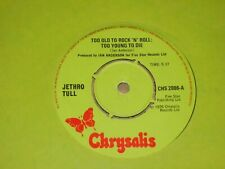 """Jethro Tull """"Too Old To Rock 'N' Roll : Too Young To Die"""" Chrysalis 45"""