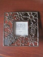 Silver colored Metal Snowflake Picture Frame-holds 3x3 picture-NEW