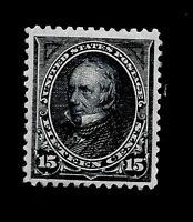 US 1894 SC# 259 15 c CLAY - Mint RG - Vivid Color - Centered - Gem - APS Certif.