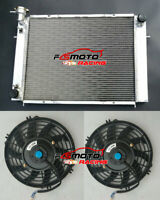 3 Core Aluminum Radiator + Fans for HOLDEN Commodore VG VL VN VP VR VS V8 AT/MT