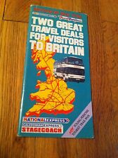 Britain By Bus 1990 Brochure Brit Express National Caledonian Stagecoach Trail