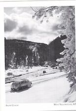 "*Postcard-""The Snow Coach"" /Along Lewis River/ *W Yellowstone MT (#273)"