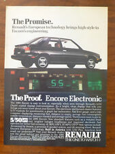 vintage 1984 1985 1986 1987 RENAULT Alliance GTA ENCORE GS 2.0L lcd magazine ad