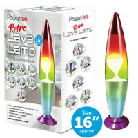 Contemporary Rainbow Lava Lamp Light Peaceful Motion Wax Liquid Relaxation Room