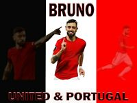 Bruno Fernandes Player Flag 4ft X 3ft for Manchester Utd fans