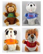 Shirt Tales Hallmark Lot of 4 Plush Tyg Digger Rick & Bogey Stuffed Animals 1981