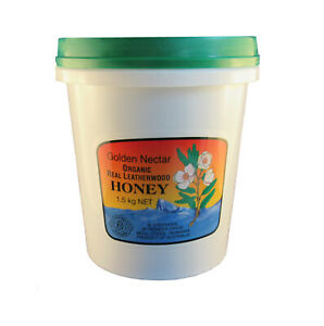 Organic Golden Nectar Tasmanian Leatherwood Honey, 1.5kg tub, Free shipping,
