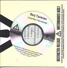 SERJ TANKIAN Imperfect Harmonies UK numbered/watermarked promo test CD sealed