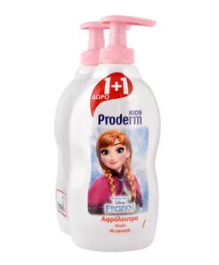 Disney Frozen Bubble Bath Proderm Kids - 2 X 400ml - New