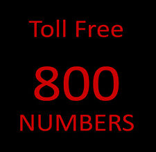 800 Toll Free Phone Numbers  - The Real Deal 800 NUMBERS