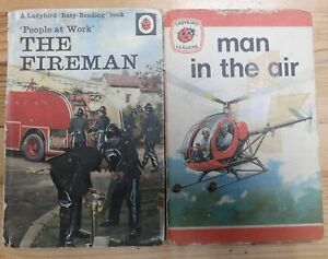Ladybird Books: Series 606B, People at Work, The Fireman, man in the air Joblot