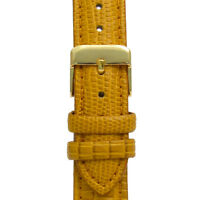 Leather Watch Band Strap Padded Lizard Grain 3 16mm 18mm 20mm C016