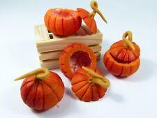 4 Miniature Dollhouse hollowed out Pumpkins for Autumn Decoration - Thanksgiving