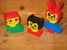 DUPLO LEGO HEAD CAT RABBIT MAN ASSORTED CONSTRUCTION BRICKS CHILDS FIRST SET FU