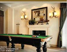 2-Lights Nordic Deer Antler Home Living Room Dining Wall Sconce Light Fixture
