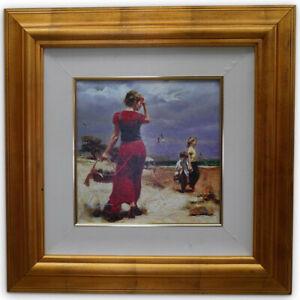 "Pino Daeni  ""Seaside Gathering"" Giclee on canvas 132 of 500 with COA"