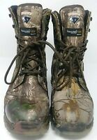 "HERMAN SURVIVORS MENS WATERPROOF INSULATED 8"" HUNTING BOOT, SIZE 7.5 WIDE"