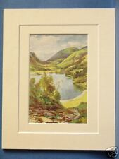 GRASMERE FROM LOUGHRIGG CUMBRIA VINTAGE DOUBLE MOUNTED HASLEHUST PRINT 10X8
