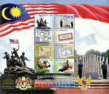 Malaysia Indonesia Joint Issue 2011 Flag Banknotes Chicken Tourism (sheetlet MNH