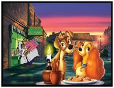 LADY AND THE TRAMP FRIDGE MAGNET # 2. 4X5. DISNEY CARTOONS.....FREE SHIPPING