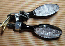 2X LED CATEYE BLACK MINI TURNSIGNAL YAMAHA XV1100,XV750,XVZ13DE,XV1600 WildStar
