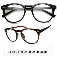 New Unisex Round Fashion Vintage Blended Line Bifocal Reading Glasses Eyeglasses