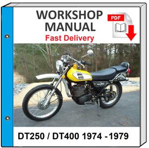 YAMAHA DT250 DT400 1974 1975 1976 1977 1978 1979 SERVICE REPAIR SHOP MANUAL