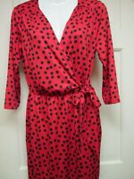 Red Black Dot Wrap Dress by Mud Pie, Size Small or Large, NWT