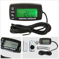 Hour Meter Tachometer Gauge Backlight Digital inductive Tach / Hour meter