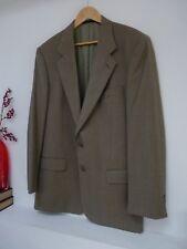 "Mens Lovely Sidi Light Green Check Virgin Wool Blazer Jacket Size 40"" Chest Vvgc"