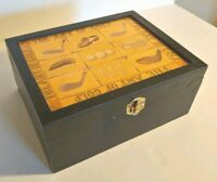 Collectible Golf Theme Wood Box The Art of Golf Black with Artwork Size: 9x7x4