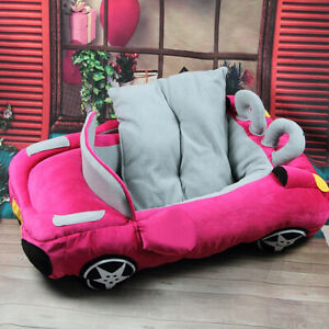 Popular Warm Fashion Pet Dog Cat Pet Car Bed House Best Gift  Rose Red