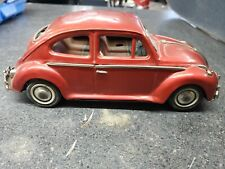 Vintage Bandai VW Bug Beetle tin toy car *FOR PARTS - DOES NOT WORK*
