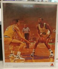 No.35 Reggie Lewis 1988 1989 Boston Celtics Basketball Citgo Poster 10.5x12.5